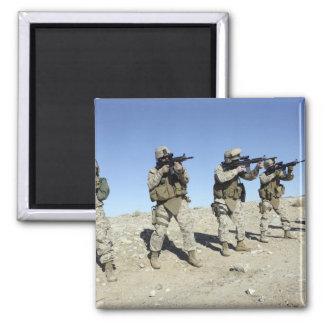 Military Transistion Team members Square Magnet