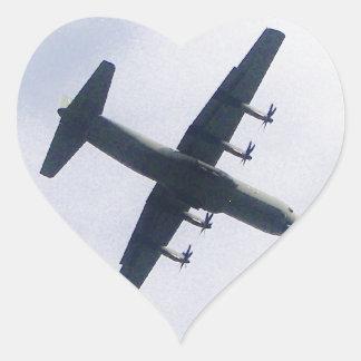 Military Transport Aircraft Heart Sticker