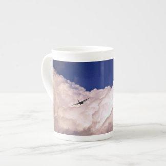 Military Transport Airplane Bone China Mug