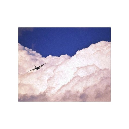 Military Transport Airplane Gallery Wrapped Canvas