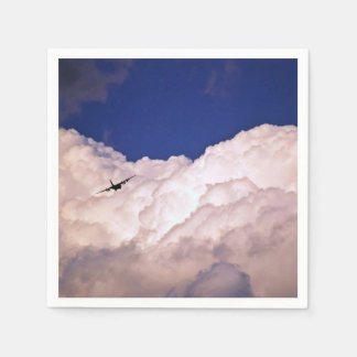 Military Transport Airplane Paper Napkin