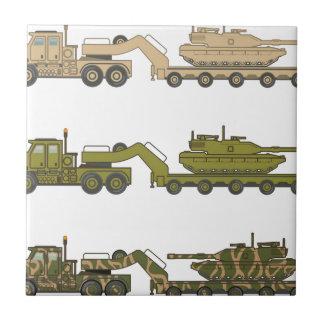 Military Truck pulling tank Ceramic Tile