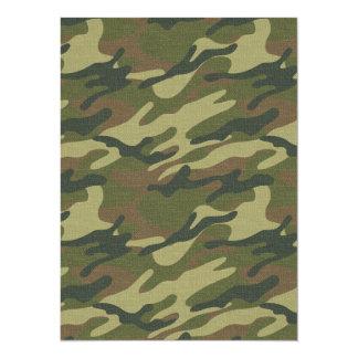 Military Uniform 14 Cm X 19 Cm Invitation Card