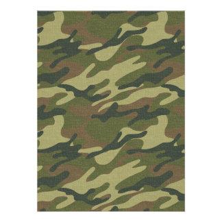 Military Uniform Personalized Invites