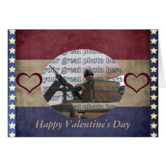 Military Valentine Photo Frame Card