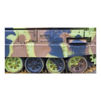 military vehicle customized photo card