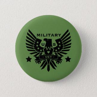 MILITARY VET_black design 6 Cm Round Badge