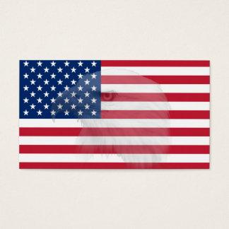 Military Veteran Bald Eagle & American Flag