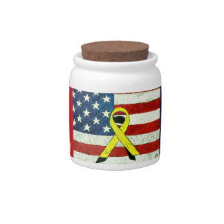 Military Vets Candy Jar