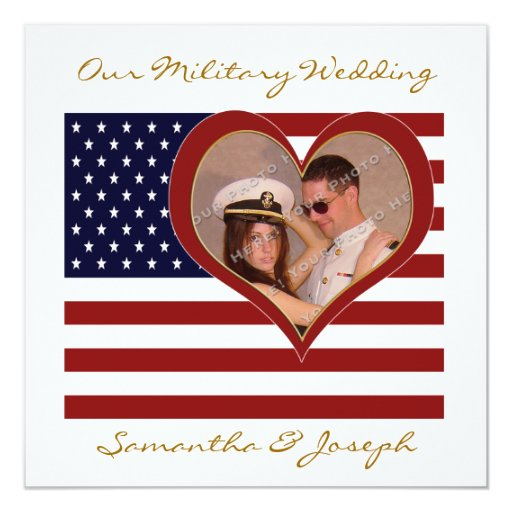 Military Wedding Invitation