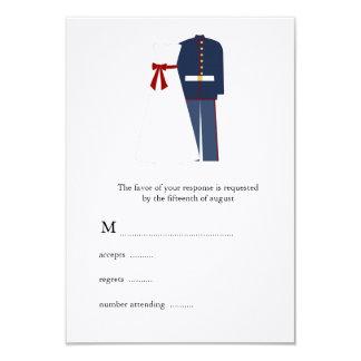 "Military Wedding RSVP Cards 3.5"" X 5"" Invitation Card"