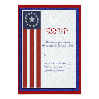 Military wedding RSVP response card 9 Cm X 13 Cm Invitation Card