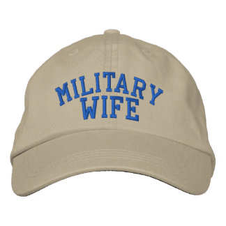 Military Wife Cap by SRF Embroidered Cap