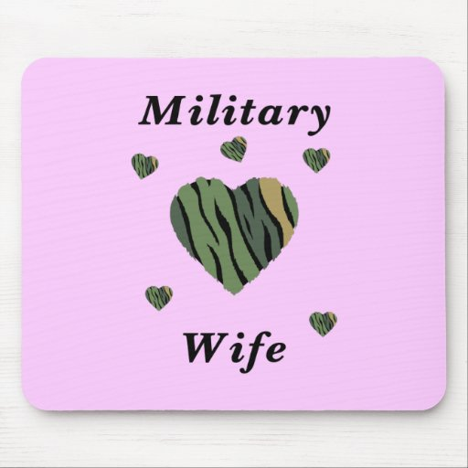 Military Wife Love Mousepads