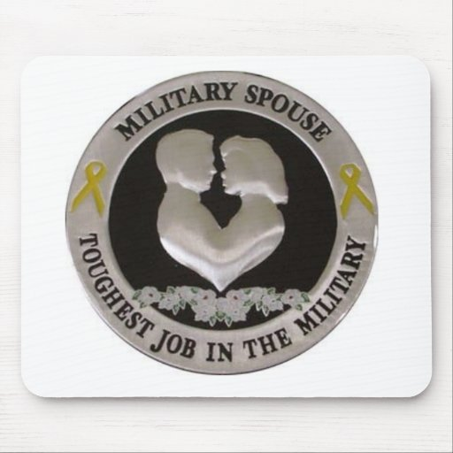 Military Wife Mouse Pad
