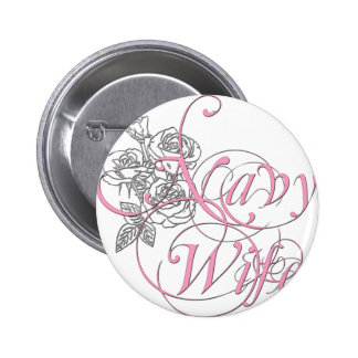 military wife rose pinback buttons