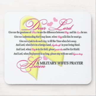 Military Wifes Prayer Mouse Pads