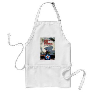 Military WWI poster plane soldier Apron