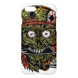 military zombie with knife in mouth iPhone 7 case