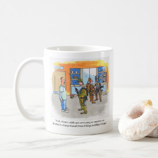Militia Fridays right hand cartoon mug