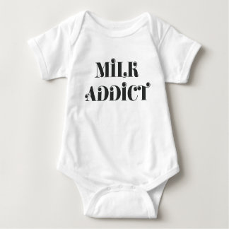 Milk addict quote funny baby bodysuit