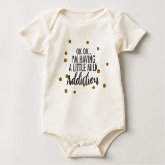 Milk addiction baby bodysuit
