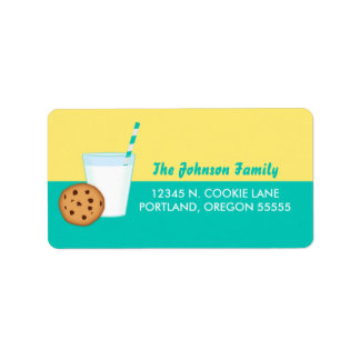 Milk and Chocolate Chip Cookie Label