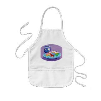 Milk and cookies kids' apron