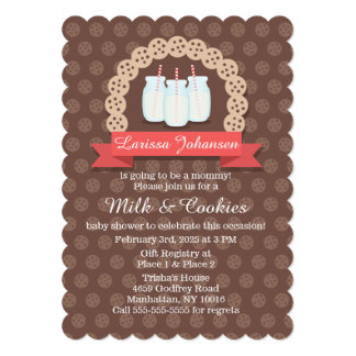 Milk and Cookies Baby Shower Invitation