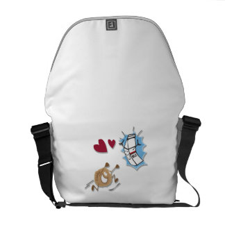 Milk and cookies bag courier bags