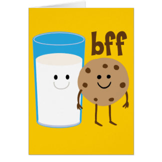 Milk And Cookies BFF Greeting Card