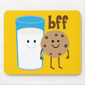 Milk And Cookies BFF Mouse Pad