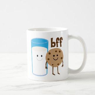 Milk And Cookies BFF Basic White Mug