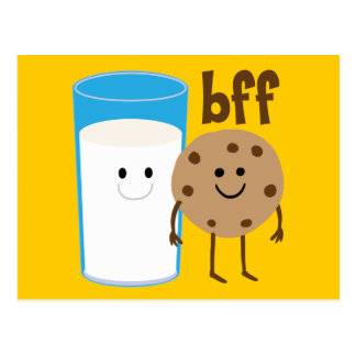 Milk And Cookies BFF Postcard