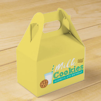 Milk and Cookies Birthday Party Favour Box