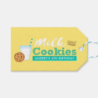 Milk and Cookies Birthday Party Gift Tags