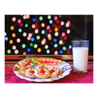Milk and cookies for Santa Claus 21.5 Cm X 28 Cm Flyer