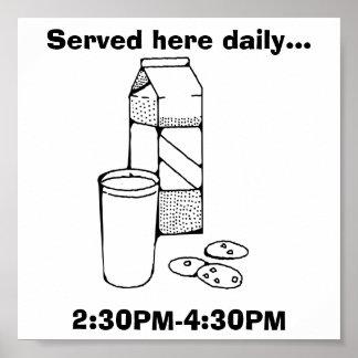 Milk and Cookies Fun Poster