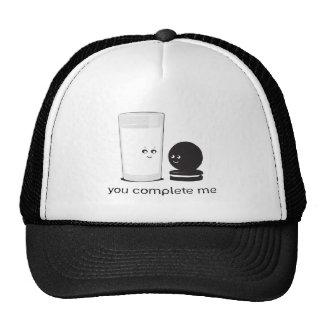 Milk and cookies hats
