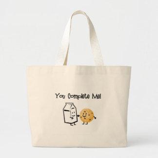 Milk and Cookies Jumbo Tote Bag