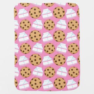 Milk and Cookies Pattern Receiving Blankets