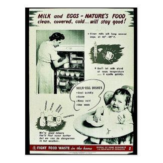 Milk And Eggs - Naturr's Food Postcards