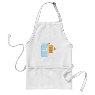 Milk and Juice Aprons