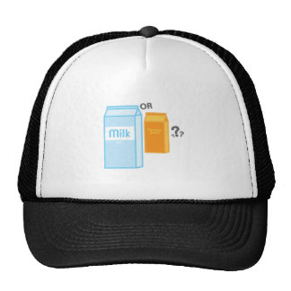 Milk and Juice Mesh Hats