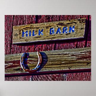Milk Barn and Horseshoe Print