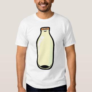 Milk Bottle. Gold top. Shirt