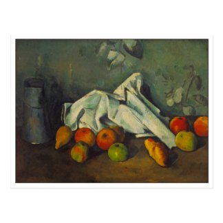 Milk Can and Apples by Cezanne Postcard