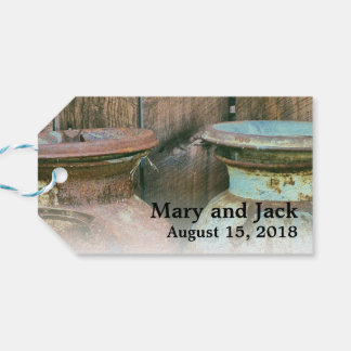 Milk Cans Vintage Metal Rustic Antique Monogram Gift Tags
