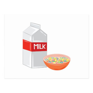Milk & Cereal Postcard