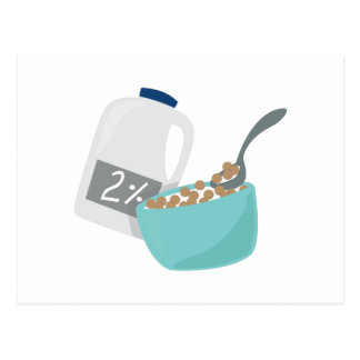 Milk & Cereal Postcard